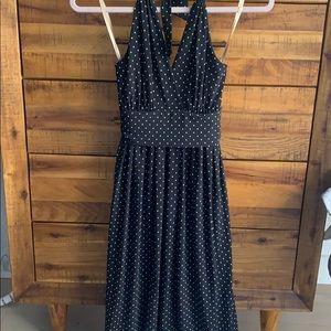 BCBG black & white polka dot dress - size medium